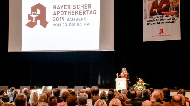 Die CSU-Gesundheitsministerin Melanie Huml machte bei der Eröffnung des Bayerischen Apothekertages deutlich, dass sie das Rx-Versandverbot weiterhin favorisiert. (Foto: BLAK/BAV)