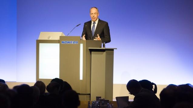 """Der zukünftige Noweda-Vorstandschef Dr. Michael P. Kuck: Noweda als Unternehmen der Apotheker exportiere """"anders als andere"""" nicht systematisch knappe Arzneimittel. (Foto: Noweda)"""