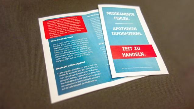 Die Noweda hat einen Flyer entworfen, in dem die Problematik der Lieferengpässe erläutert wird. (m / Foto: Noweda)