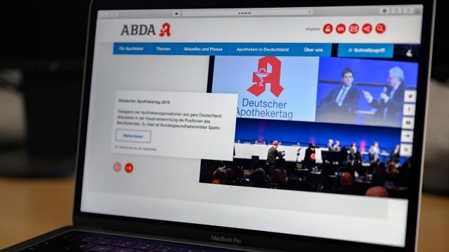 Die ABDA hat ihre Internetseite erneuert. (Foto: DAZ.online)