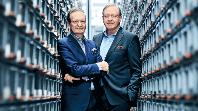 Walter Oberhänsli, CEO (links) undStefan Feuerstein, Präsident des Verwaltungsrats Zur Rose Group AG. (Quelle: Geschäftsbericht 2019 - Zur Rose Groug AG)