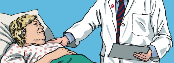 Eine Patientin mit Herzinsuffizienz