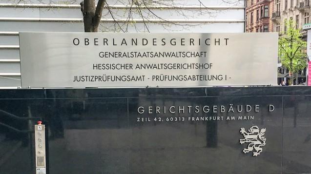 Das Oberlandesgericht Frankfurt hat der Apothekerkammer Nordrhein in einem Streit mit DocMorris in der Berufungsinstanz Recht gegeben. (Foto: OLG Frankfurt/M.)