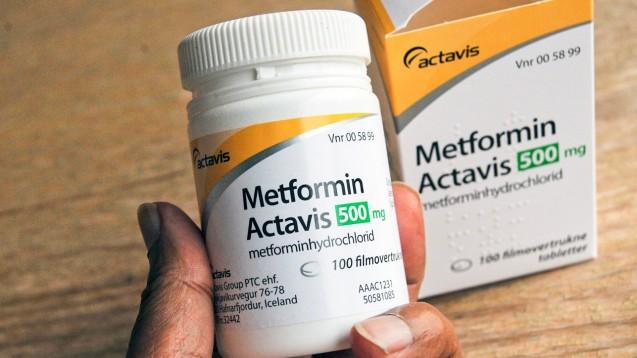 In den USA wurden bislang nur in Metformin von Actavis geringe NDMA-Mengen gefunden. Hier ist ein dänisches Präparat abgebildet. ( t / Foto: imago images / Dean Pictures)