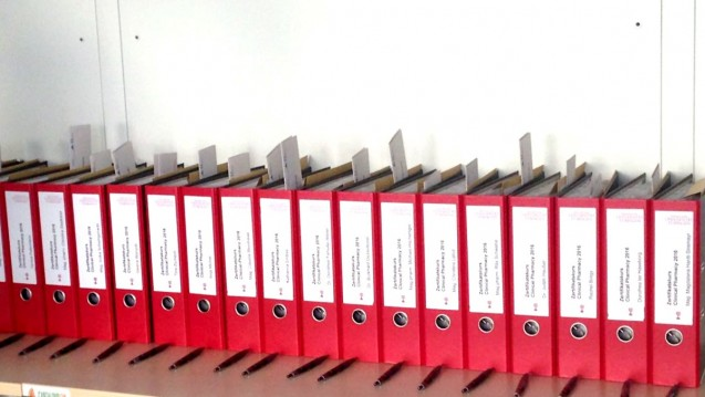 """Alles vorbereitet für den aktuellen Kurs """"clinical pharmacy"""" in Tübingen – 23 Apotheker erhielten einen Platz. (Foto: cel / DAZ.online)"""