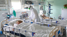 COVID-19-Patienten auf der Intensivstation eines Krankenhauses in der Region Volgograd, Russland. (x / Foto: IMAGO / ITAR-TASS)