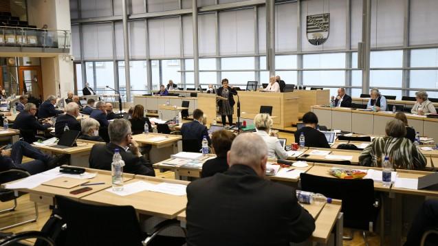 Der Landtag in Sachsen-Anhalt wird heute Abend über einen Antrag der Linksfraktion beraten. Die Abgeordneten fordern darin, die von der AvP-Insolvenz betroffenen Apotheken zu unterstützen. (rh / Foto: imago images / Christian Schroedter)