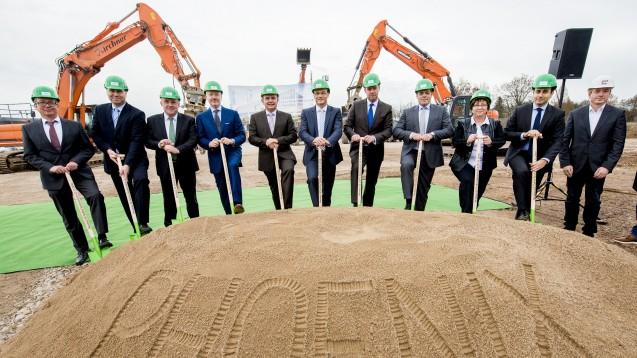 Spatenstich in Gotha: Vom neuenVertriebszentrums will Phoenix Apotheken in Thüringen, Sachsen und Sachsen-Anhalt beliefern. (Foto: Phoenix)