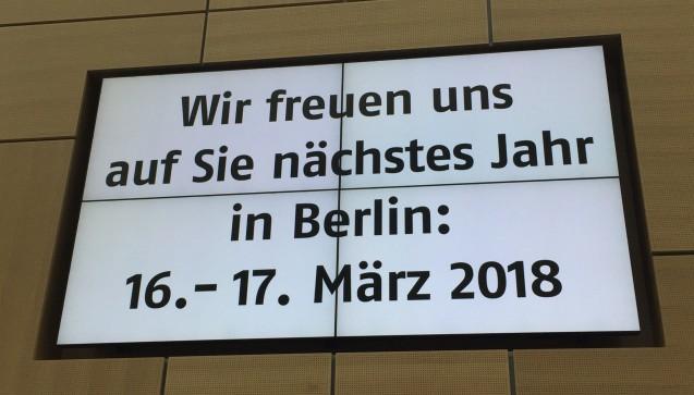 Wir sehen uns 2018 in Berlin!