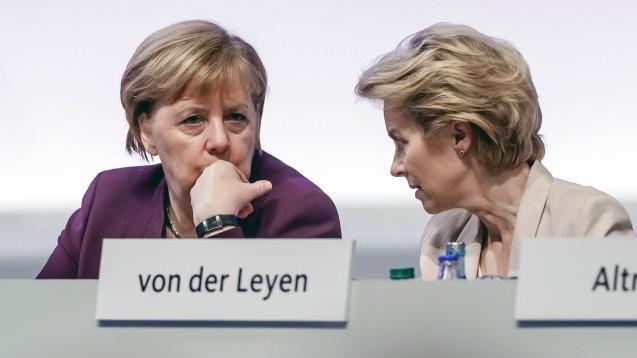 Bundeskanzlerin Angela Merkel und EU-Kommissionspräsidentin Ursula von der Leyen haben am vergangenen Wochenende für Milliardenspenden geworben, um die Forschung im Bereich der Corona-Impfstoffe zu unterstützen. (Foto: imago images / DeLodi)