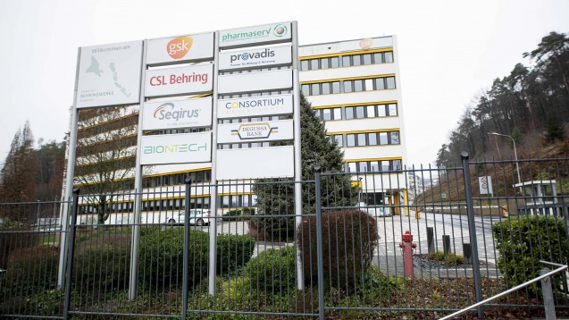 Biontech produziert ab Februar in seinem Werk in Marburg (Hessen) den Impfstoff gegen das Corona-Virus. Der Standort liegt auf dem Gelände der ehemaligen Behringwerke. (m / Foto: imago images / rheinmainfoto / STAR-MEDIA)
