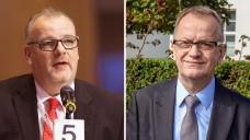Brandenburgs Kammerpräsident Jens Dobbertund AVB-Vorsitzender Olaf Behrendt (Foto: Schelbert | AVB)
