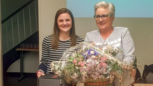 Die neue Vorsitzende des Saarländischen Apothekervereins (Susanne Koch) mit ihrer Vorgängerin Claudia Berger. (m / Foto: eda)