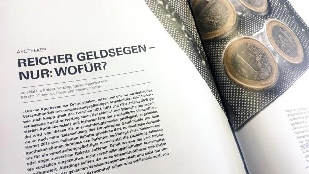 Der BKK-Dachverband hat Angst, dass die Apotheken zu viel Geld ohne Leistung kriegen. (c / Quelle: BKK Magazin)