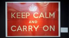 Der Slogan eines Propaganda-Posters der britischen Regierung von 1939 passt auch in Zeiten des Brexits. (c / Foto: imago)