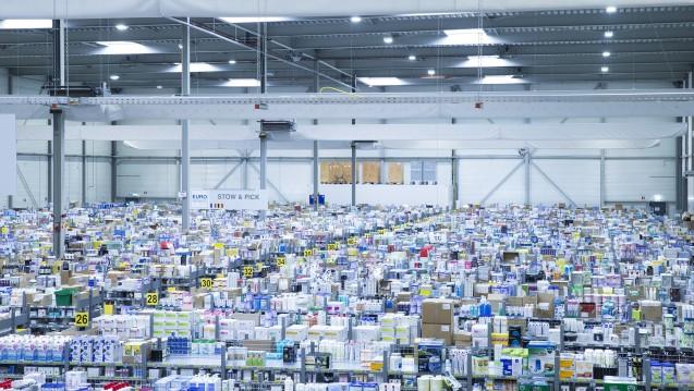 Das Lager der Shop-Apotheke in den Niederlanden. Wie schwer wiegen ihre verfassungsrechtlichen Bedenken gegen das Rx-versandverbot wirklich? (Foto: Shop Apotheke)