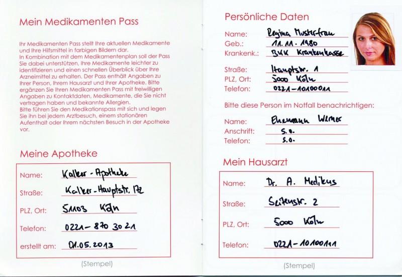 Etiketten und Pass