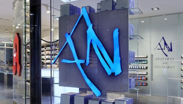 Die Apotheke am Neumarkt: Vogelreuter legt Wert auf Qualität bei seiner Apotheke – beim Design und der pharmazeutischen Beratung. (Foto: AaN)