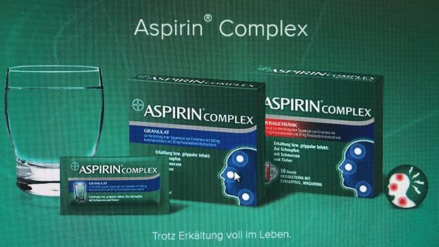 Kein Aspirin Complex bis Januar 2019. Darüber informiert Bayer die Apotheken. (Foto: Screenshot Bayer)