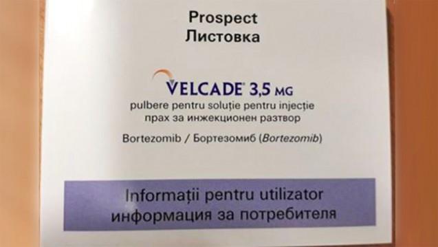 Die bisher aufgetauchten Fälschungen waren, so wieder Im Bild,bulgarisch-rumänischer Aufmachung. Die zuletzt aufgetauchte nicht. (Foto: BfArM)