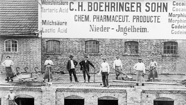 Ein Unternehmen im Wandel: Aufnahme aus dem Jahr 1907 von C. H. Boehringer Sohn, Ingelheim