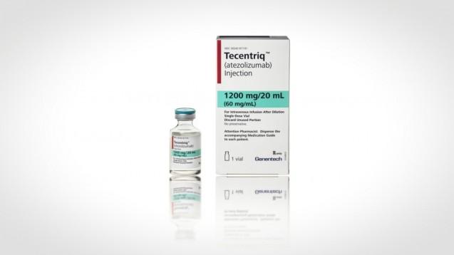 Das NICE hat sich gegen eine Erstattung von Tecentriq in Kombination mit den Chemotherapeutika Carboplatin und Etoposid bei therapienaivem fortgeschrittenem kleinzelligen Lungenkrebs durch den NHS in England ausgesprochen.(m / Foto: picture alliance / AP Photo)