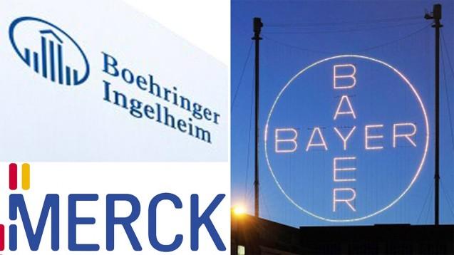 Wie sind die Zukunftsaussichten für die drei großen deutschen Pharma-Unternehmen? (Quellen: dpa, Merck, Boehringer)