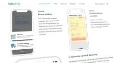 Teleclinic unter Druck: Rezepte können nun wieder bei anderen Apotheken als der Versandapotheke Mache eingelöst werden. (m / Screenshot: teleclinic.com/so-funktionierts/ )