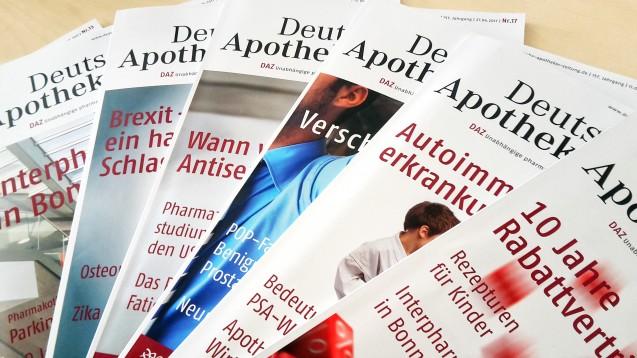 Die Deutsche Apotheker Zeitung ist als beste Fachzeitschrift ausgezeichnet worden. (Foto: DAZ.online)