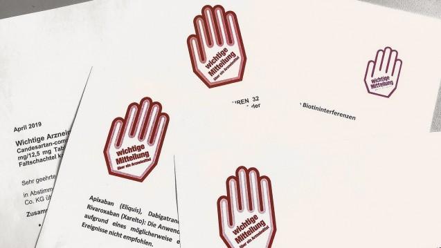 Rote-Hand-Briefe werden künftig beim betroffenen Fertigarzneimittel hinterlegt. (r / Foto: DAZ.online)