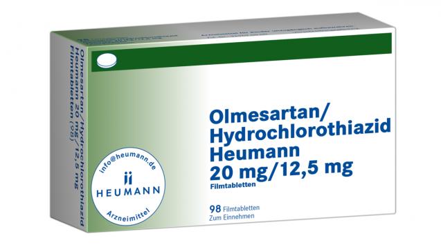 Das BfArM hatte für manche Sartane bereits im Februar das Ruhen der Zulassung angeordnet, nun kommen Olmesarten/HCT-Kombinationen von Heumann dazu. Die Hersteller sind den EU-Auflagen nicht nachgekommen, ihre Herstellungsverfahren zur Vermeidung nitrosaminhaltiger Verunreinigungen zu prüfen. (m / Foto: Heumann)