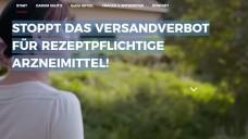 PR-Kampagne von DocMorris: Die niederländische Versandapotheke hat eine Internetseite gebaut, auf der sie ihre Kunden dazu aufruft, sich gegen das geplante Rx-Versandverbot auszusprechen. (Screenshot: DAZ.online)