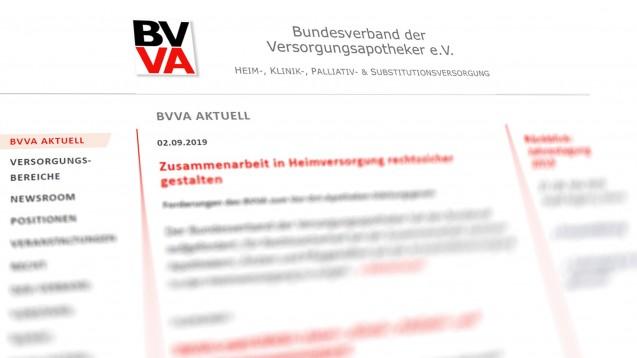 Neues Logo, neuer Name: Der BVVA vertritt nun auch im Namen die verschiedenen Spezialversorger unter den Apotheken. ( r / Screenshotbvva.de)