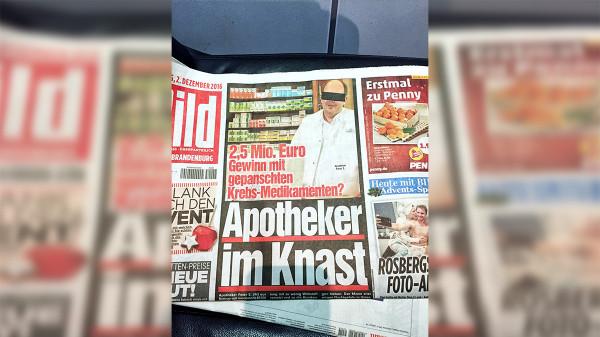 Gericht verlängert U-Haft von Zyto-Apotheker