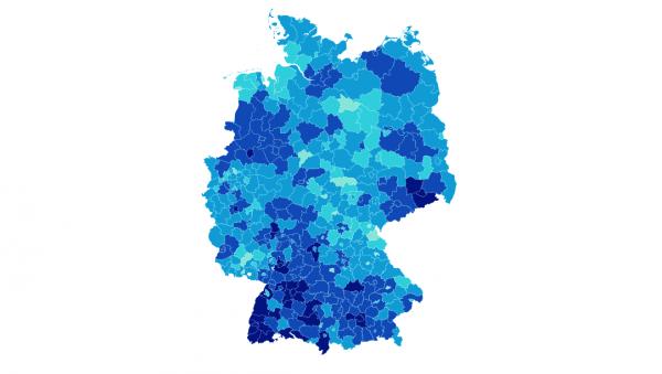 Regionale Unterschiede in Deutschland groß