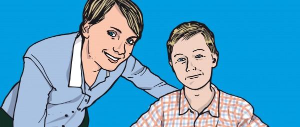Ein Jugendlicher nach Nierentransplantation