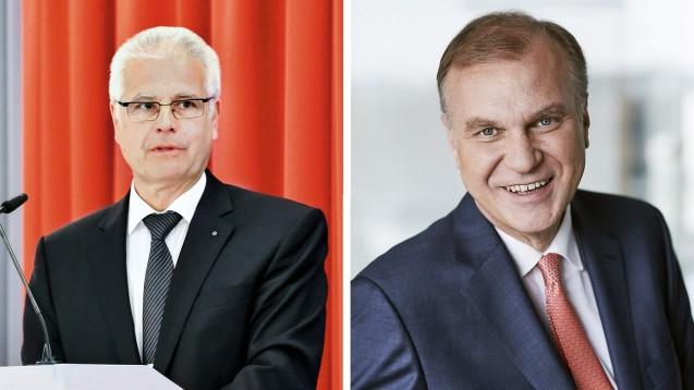 Der Präsident der Bayerischen Apothekerkammmer, Thomas Benkert, und der Vorsitzende des Apothekerverbands Westfalen-Lippe, Dr. Klaus Michels, wollen den neuen Spahn-Plan so nicht umgesetzt wissen. (m / Foto: BLAK | AVWL)