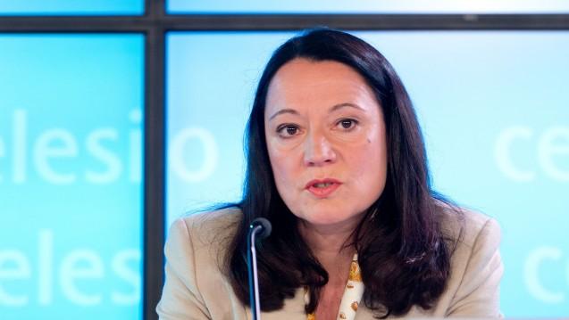 Damals noch bei Celesio: Marion Helmes bei der Vorstellung der Bilanzpressekonferenz im März 2014. (Foto: picture alliance / dpa)