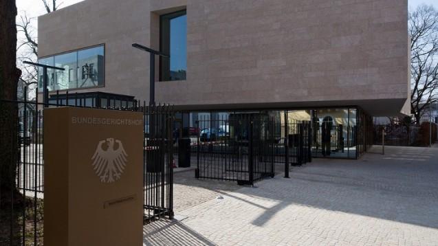 Vor dem Bundesgerichtshof trafen sich gestern die Anwälte der Apothekerkammer Nordrhein und von DocMorris. (Foto: BGH)