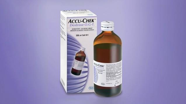Seit einigen Jahren wird die Verordnung der fertigen Lösung Accu-Chek Dextrose O.G-T. im Sprechstundenbedarf als unwirtschaftlich erachtet.s / (Foto: Screenshot Roche Diabetes Care)