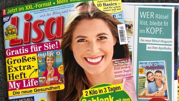 """Der aktuellen """"Lisa"""" liegt ein Probeheft der neuen Apotheken-Kundenzeitschrift bei. (s / Foto: DAZ.online)"""