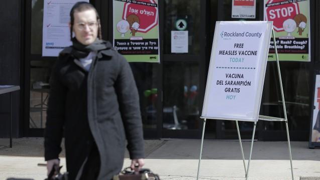 Masern in den USA: In den betroffenen Gegenden Brooklyns leben viele orthodoxe Juden und auch im Landkreis Rockland ist Medienberichten zufolge vor allem die jüdisch-orthodoxe Gemeinschaft betroffen. ( r/ Foto:picture alliance / AP Photo)