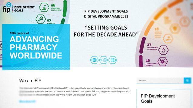 Die Apotheken sollen treibende Kraft bei der Integration evidenzbasierter digitaler Technologien in die tägliche Praxis sein, schreibt der Weltverband FIP in seiner neuen Grundsatzerklärung. (s / Screenshot: fip.org / DAZ)