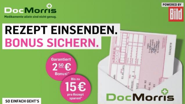 """Mit einer Kooperation mit der""""Bild"""" will DocMorris offensichtlich Neukunden gewinnen. (Screenshot: DAZ.online)"""