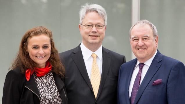 Der neue Vorstand des Hilfswerks: Tatjana Zambo, Christoph Gulde, Fritz Becker. (Foto:LAV)