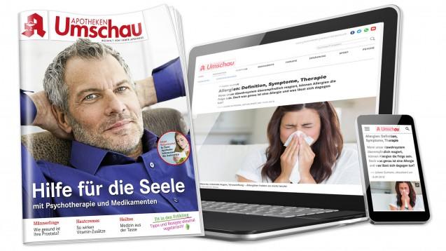 """Die """"Apotheken Umschau"""" wird für ihrenService-Charakter und für ihren digitalen Auftritt beim European Publishing Award ausgezeichnet. (c / Foto: Wort & Bild/Montage jh)"""
