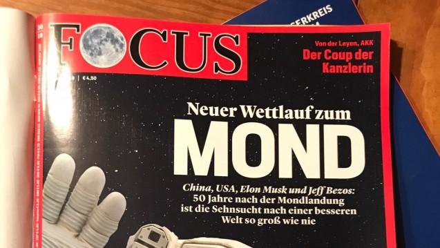 Im aktuellen Focus findet sich eine kleine Notiz zur Petition vonBenedikt Bühler. (s / Foto: PTAheute.de)