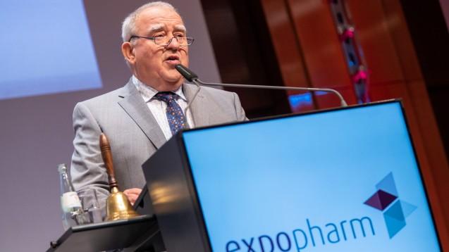 DAV-Chef Fritz Becker hat die Expopharm eröffnet. In seiner Rede forderte er mehrere Änderungen an der Apothekenreform. (m / Foto: Schelbert)