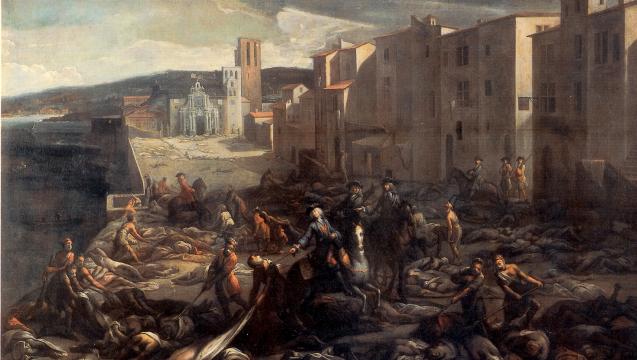 Der Ausbruch der Pest in Marseille 1720, wie der Maler Michel Serre ihn sah. (Foto: Christophe.moustier / Wikimedia)