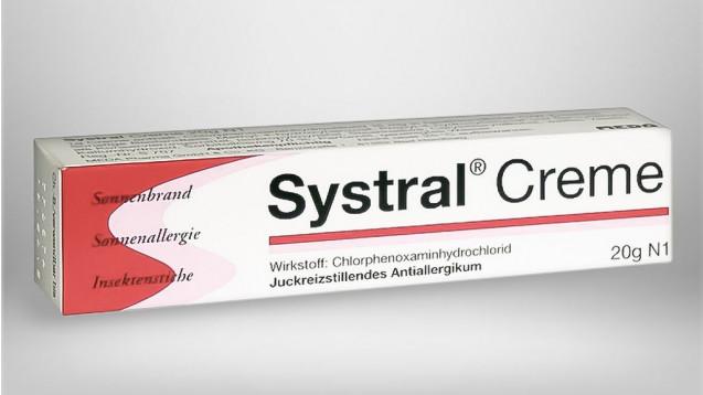 Was gibt es anstelle von Systral Creme bei Insektenstichen oder Sonnenbrand oder allergischen Reaktionen der Haut? (Foto: Meda)